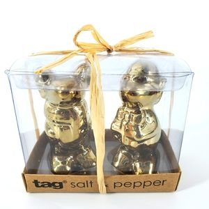 TAG Golden Christmas Mice's Shakers